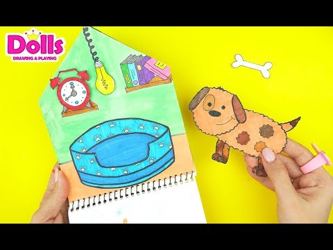 PUPPY DOG HOUSE QUIET BOOK HANDMADE DIY PAPERCRAFT FOR KIDS