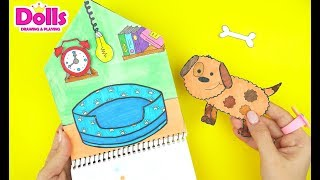 PUPPY DOG HOUSE QUIET BOOK HANDMADE DIY PAPERCRAFT FOR KIDS