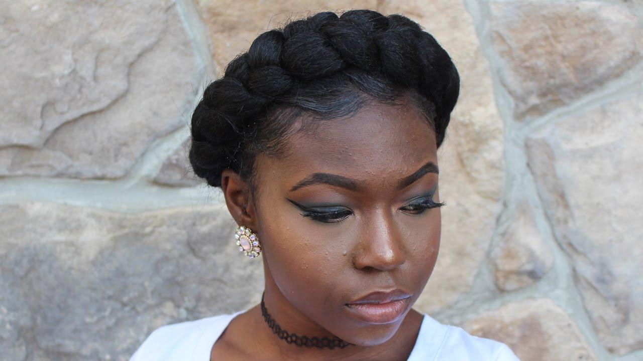 Image result for crown braid black hair