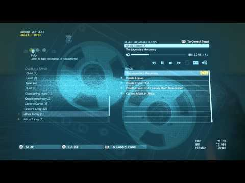 """Metal Gear Solid V - Tape Recordings Intel: Africa Today 1: """"The Legendary Mercenary"""" Audio Log PS4"""