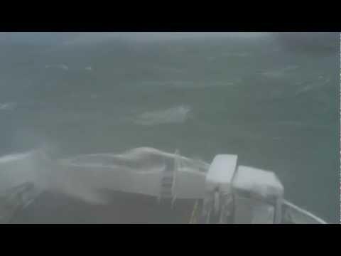 Rough passage on the Irish Sea, February 2012