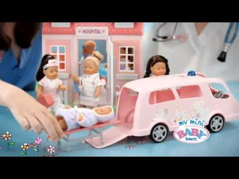 Zapf Creation My Mini Baby Born Hospital Ambulance Car