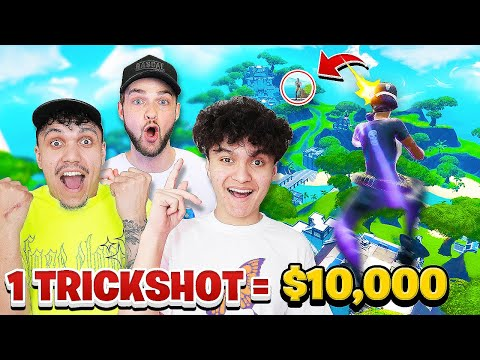 """First To Hit A Trickshot Wins $10,000"" (FaZe Vs Ali A)"