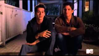 "Dylan and Tyler about a scene in ""Motel California"""