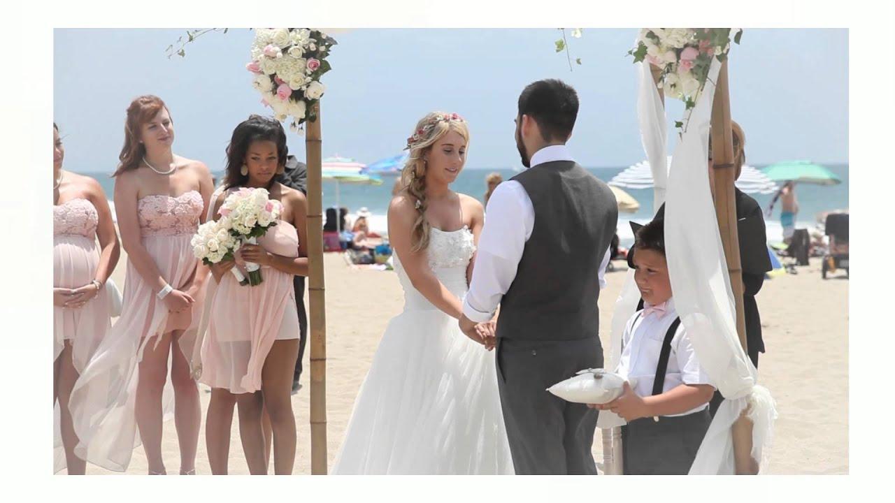 Wedding On The Beach Santa Monica Ca By Gilmorestudios