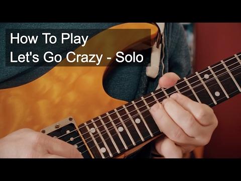 Prince  - Let's Go Crazy Guitar Solo Tutorial