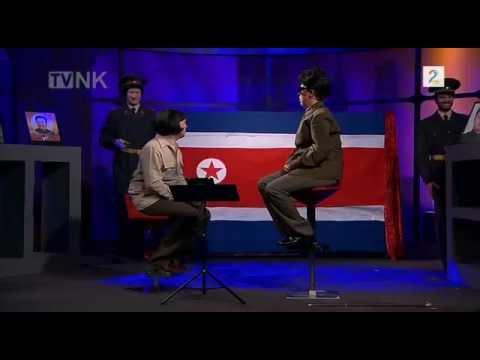 TV in North Korea - Kim Jong Il on TV show