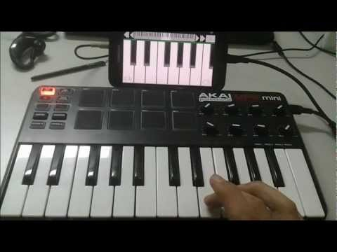 External USB MIDI Controller Keyboard On Android ICS (Galaxy Note)