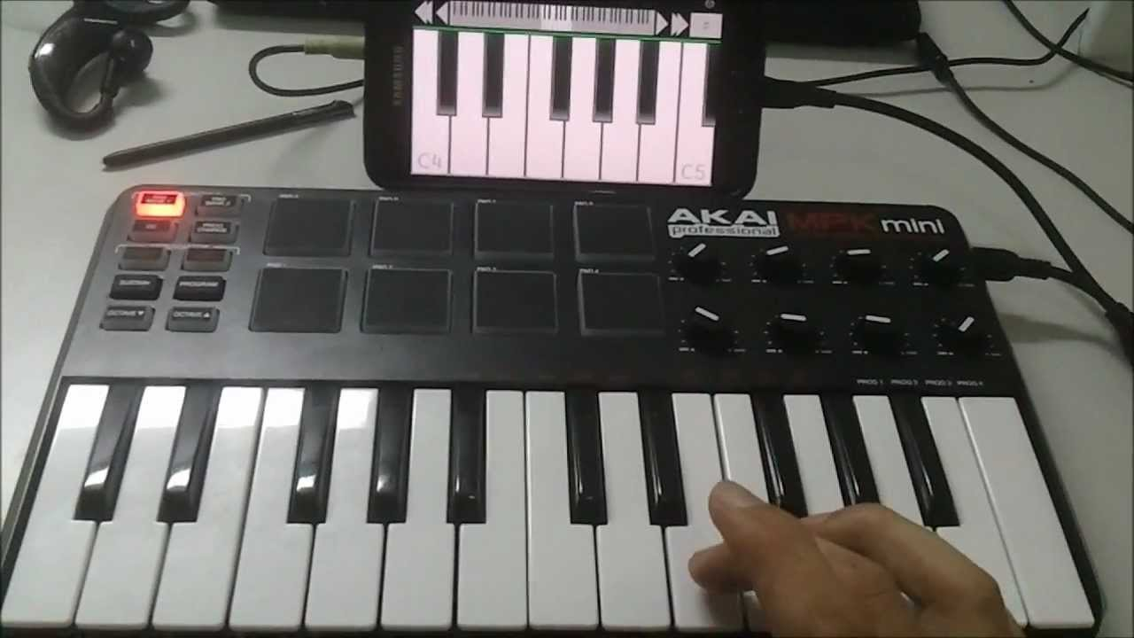 external usb midi controller keyboard on android ics galaxy note youtube. Black Bedroom Furniture Sets. Home Design Ideas