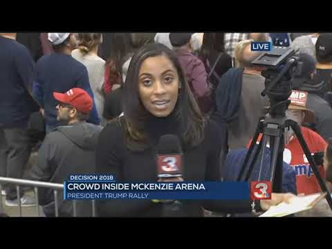 Crowds fill McKenzie Arena for Trump rally