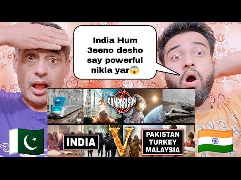 India Vs Pakistan Turkey And Malaysia  Full Comparison Reaction By|Pakistani Family Reacts|
