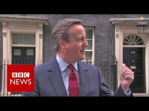 David Cameron sings to himself after announcing resignation date - BBC News