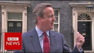 David Cameron sings to himself after announcing resignation date - BBC News thumbnail