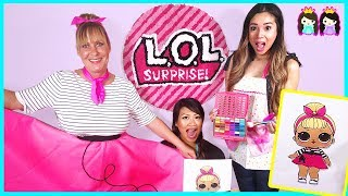 LOL Surprise Dolls In Real Life at Toy Hair Salon! Sis Swing makeover with Princess ToysReview