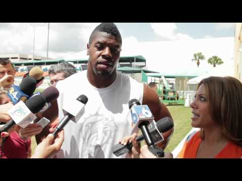 Kavita Channe goes behind the scenes at Miami Dolphins training camp...