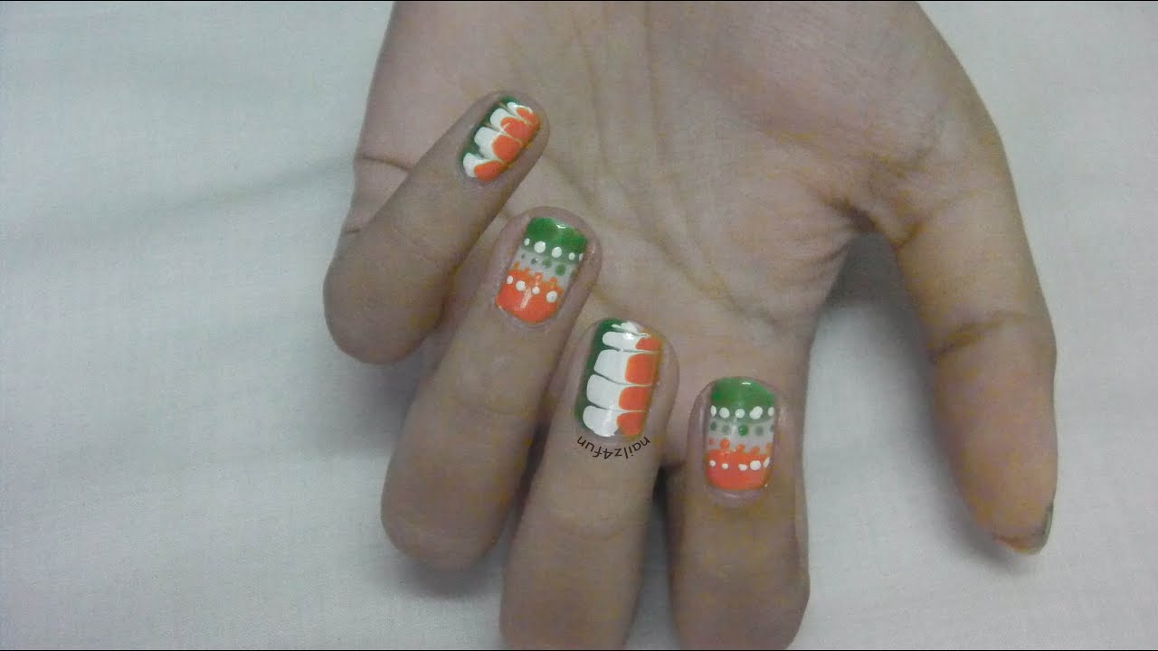 68th indian independence day nail art no tools needed youtube 68th indian independence day nail art no tools needed prinsesfo Image collections