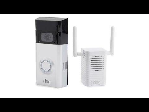 Ring Video Doorbell 2 w/24Hour Surveillance, 2Way Talk a...