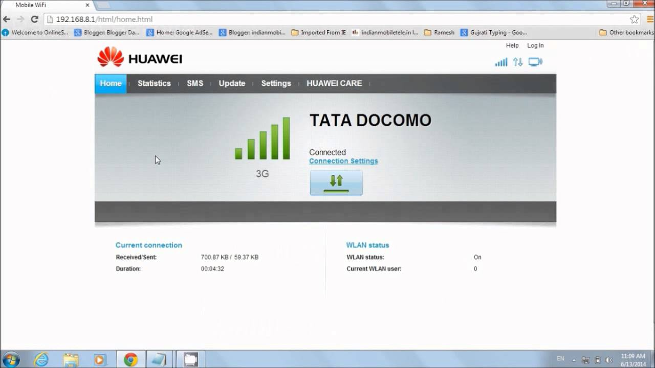 Huawei E8231's Wifi Security Setup