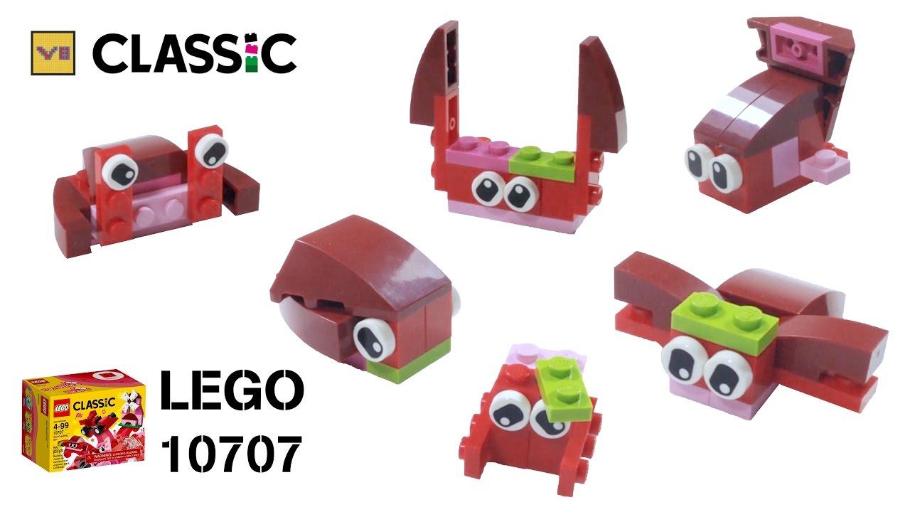 Lego Classic 10707 Bonus Red Creativity Box Vee Speech 10709 Orange Build