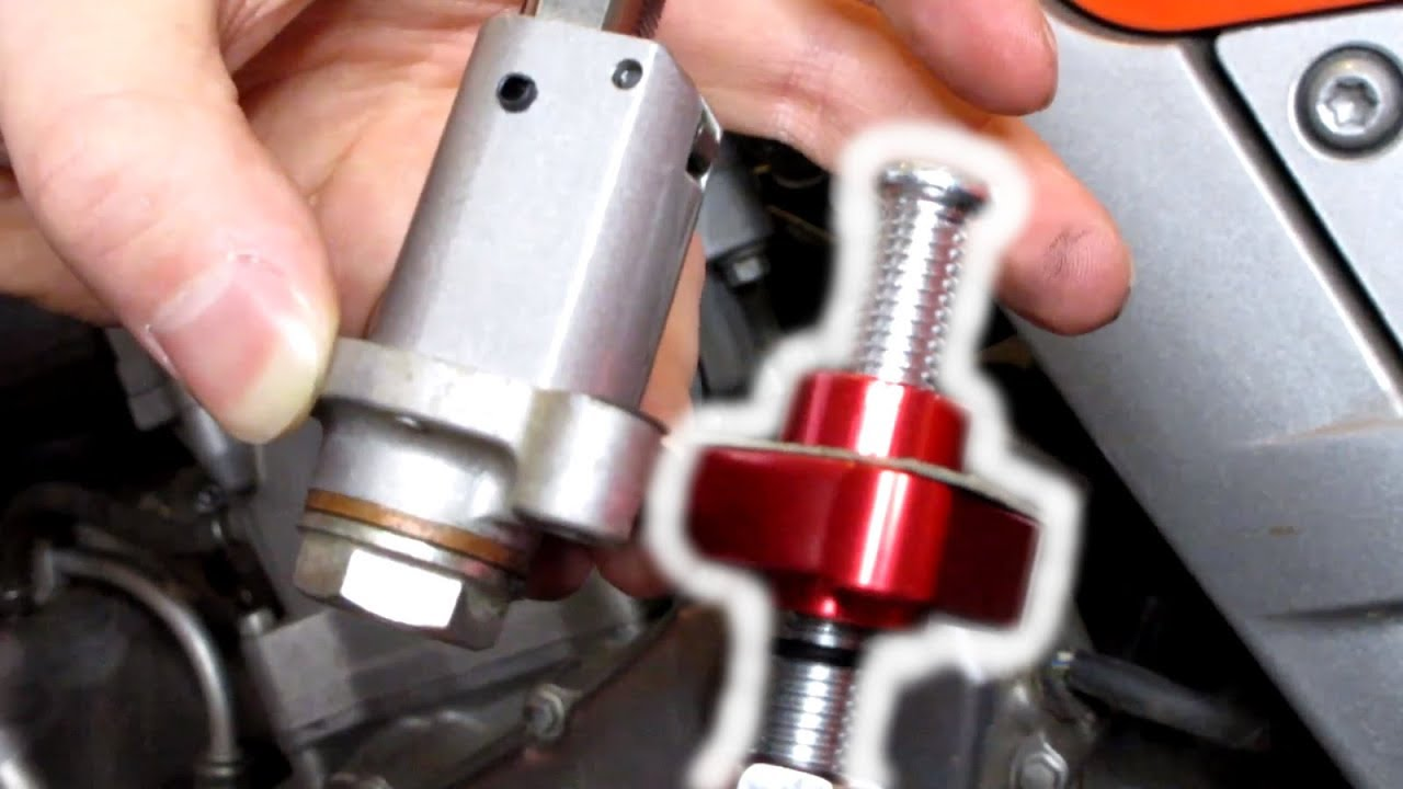 hight resolution of manual cam chain tensioner install and adjustment