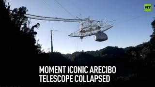 Moment iconic Arecibo telescope collapsed caught in jaw-dropping footage