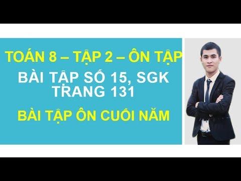 Bài tập 15 SGK Trang 131   Bài tập ôn cuối năm   Toán 8   Tập 2 – GGT