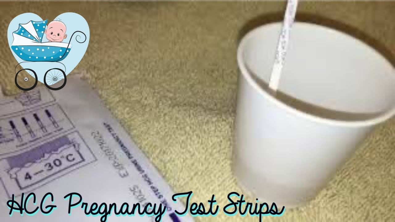 Hcg Pregnancy Test Strips Real Test Youtube