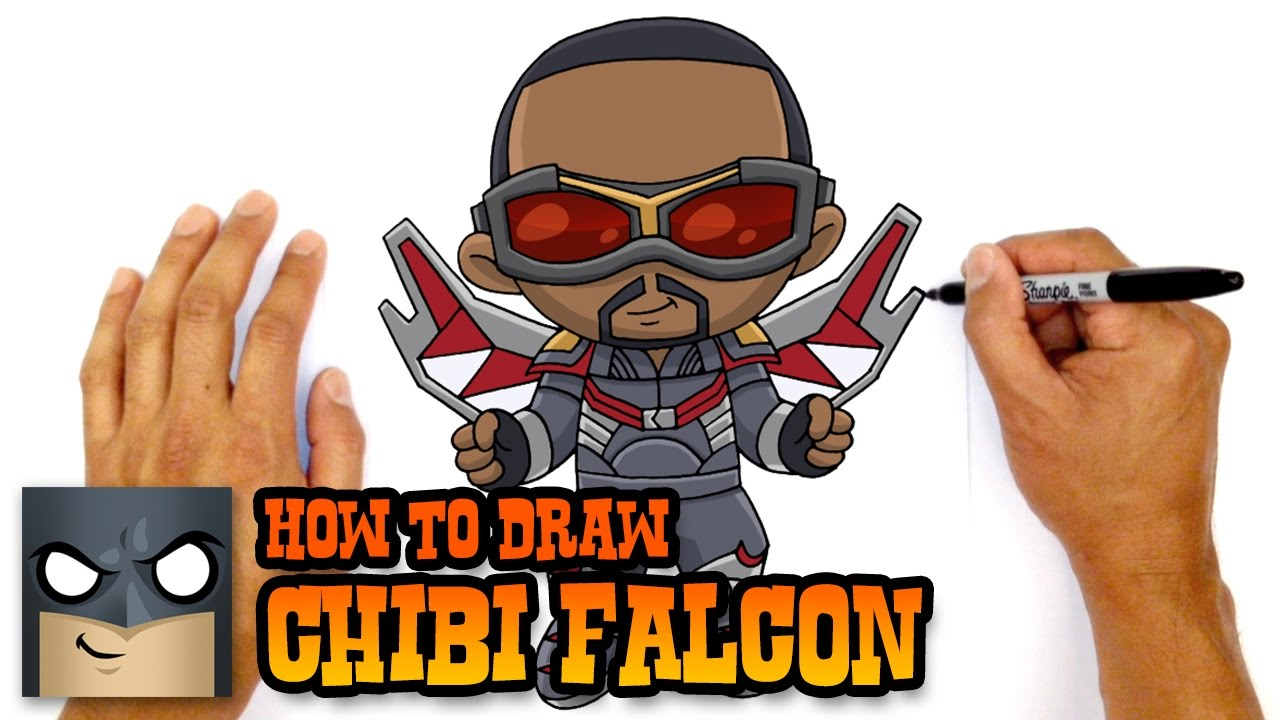 How to draw falcon chibi kids art lesson youtube