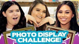 DIY PHOTO DISPLAY CHALLENGE?! w/ Karina Garcia, Roxette Arisa & Madison De La Garza
