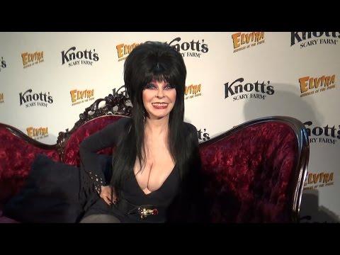 Elvira: Mistress of the Dark Cassandra Peterson  at Knott's Scary Farm Halloween P
