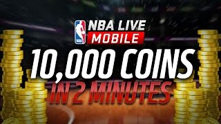 MAKE 10,000 COINS IN UNDER 2 MINUTES | NBA LIVE MOBILE COIN MAKING STRATEGY