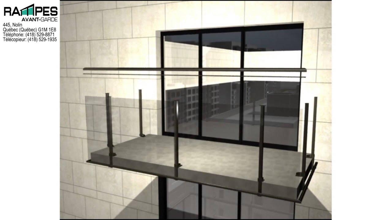 Rampe aluminium balcon plancher aluminium youtube for Accesorios para toldos de balcon