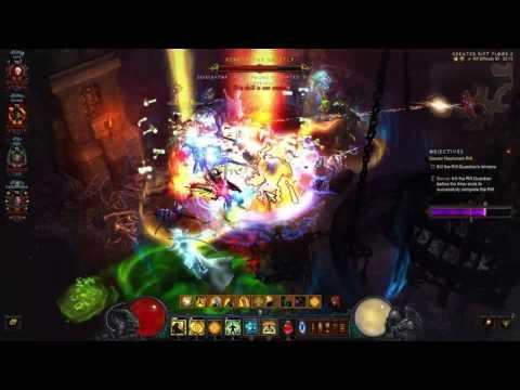 Diablo III: Party Crusader, Barbarian, Demon Hunter and Monk GR95