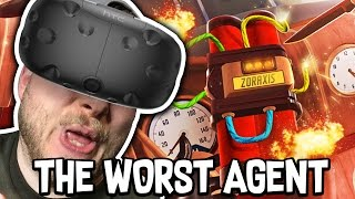 THE WORST AGENT EVER!! - I EXPECT YOU TO DIE!! (HTC Vive)