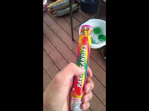 TNT Fireworks Party Candles Testing