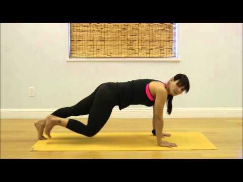 yoga plank to down dog  youtube