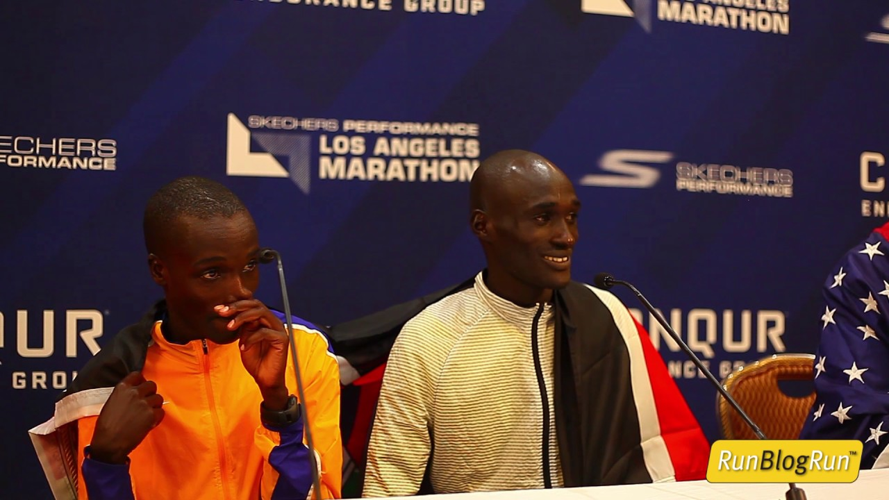 LA Marathon Post Race Press Conference - Top Pro Men