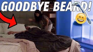 SHAVING HUSBANDS BEARD OFF IN HIS SLEEP!!!