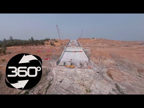 Oroville Spillway 360 Flyover August 2, 2018