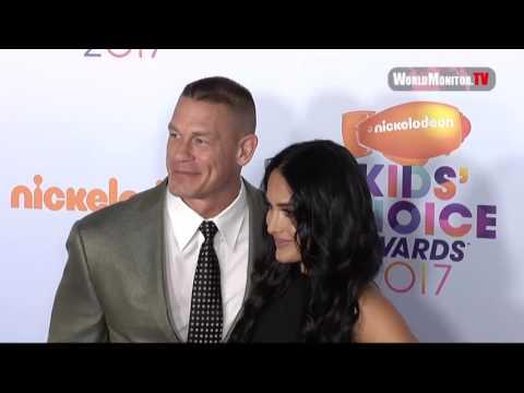 John Cena, Nikki Bella arrive at Nickelodeon