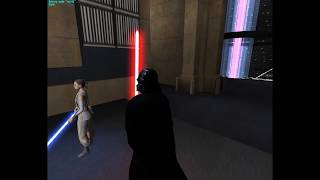 Luke and Kylo vs Rey and Vader (Jedi Academy)
