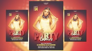 How Create Halftone Party Flyer Oshop