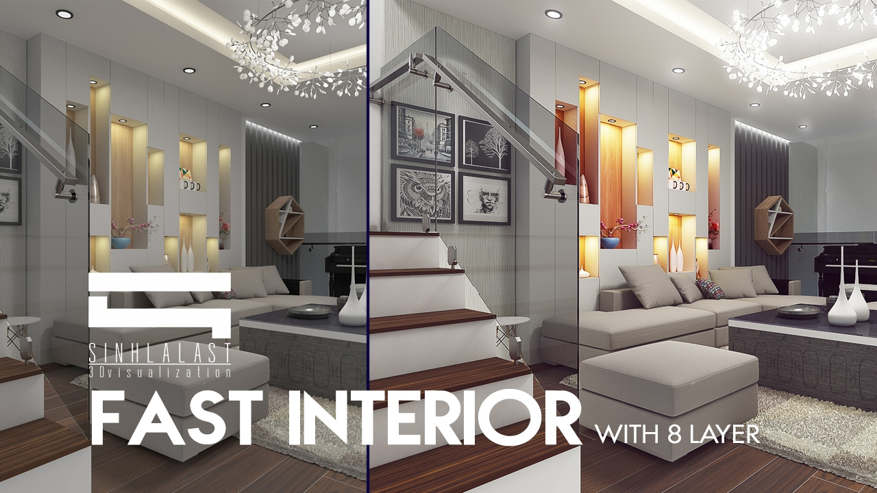Interior Light   Photoshop Architecture   YouTube