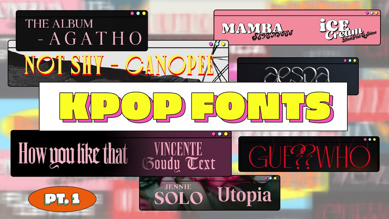 Awesome Aespa Kpop Font wallpapers to download for free greenvirals