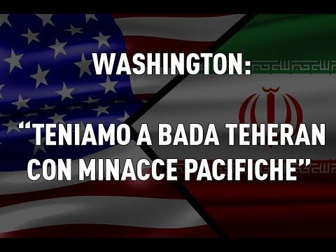 "PTV News - 22.05.19 - Washington: ""teniamo a bada Teheran con minacce pacifiche"""