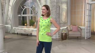 Quacker Factory Set of 2 Sequin Star Tank Tops on QVC