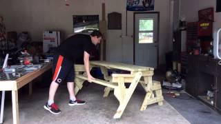 Folding Picnic Table Bench Combo