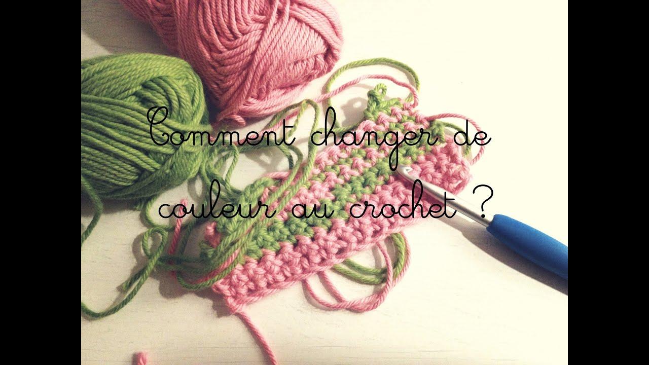 comment changer de couleur au crochet