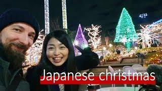 Japanese Christmas Yomiuri land illumination in Tokyo