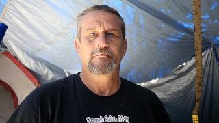 Randy is a homeless veteran living in a tent near Columbus, Ohio